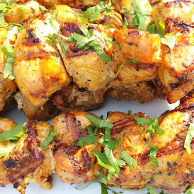 Chicken Pinchos (Puerto Rican Skewers)