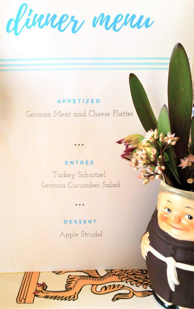 Oktoberfest Dinner Menu Ideas