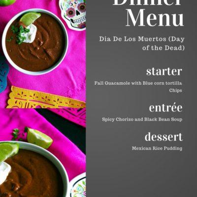 Dia De Los Muertos (Day of the Dead) Menu ideas
