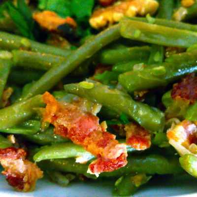 Haricot Verts with Bacon