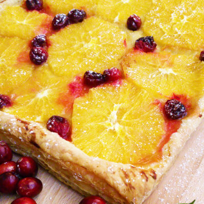Super Easy Winter Orange Tart