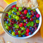 Fruit Salsa | Enjoy this amazing, quick and easy fruit salsa with honey lime dressing | SavorParadise.com
