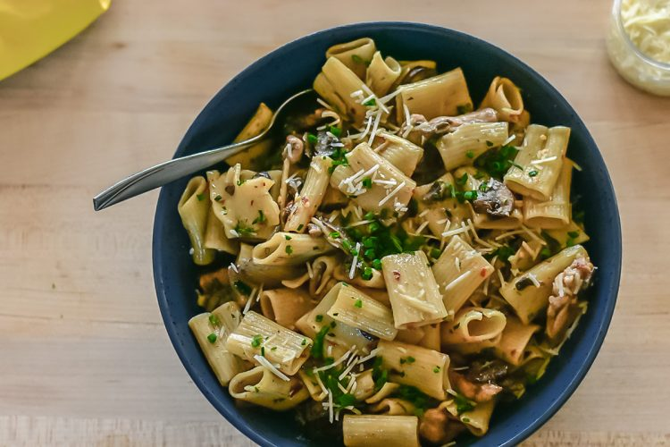 Chicken Rigatoni With Mushrooms