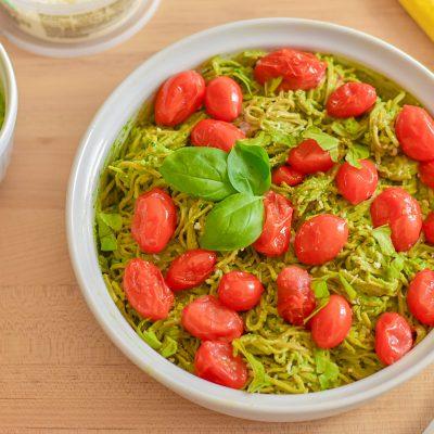 Avocado Spinach Pesto with Edamame Noodles