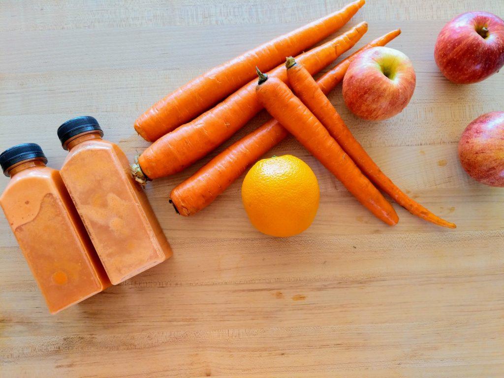 Ingredients of Carrot, Apple, Orange Juice